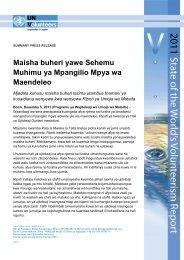 Maisha buheri yawe Sehemu Muhimu ya Mpangilio Mpya wa ...