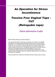 An Operation for Stress Incontinence Tension Free Vaginal Tape ...