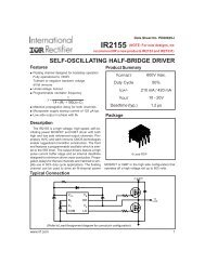 SELF-OSCILLATING HALF-BRIDGE DRIVER - Datasheet Catalog