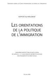 les orientations de la politique de l'immigration - La Documentation ...