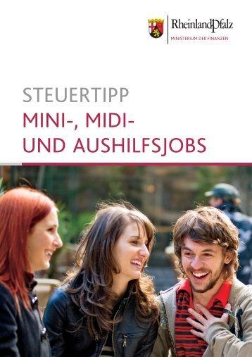 steuertipp mini-, midi- und aushilfsjobs - Finanzministerium ...