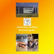 University of Žilina Welcome guide