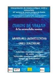 Interpretación de música antigua - Universidad Pública de Navarra