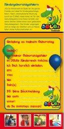 Kindergeburtstagsfeiern Einladung zu meinem Geburtstag Liebe(r ...