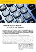 Steuerpflicht für Rentner. Thema des Monats - Renten Service - Seite 4