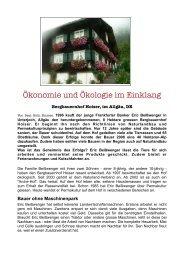 Ökonomie und Ökologie im Einklang - Permakultur im Allgäu