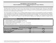 Pharmacological Guidelines - Joslin Diabetes Center