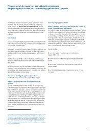 Fragen und Antworten zur Abgeltungsteuer