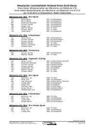 Teilnehmerliste - Leichtathletikweb.de