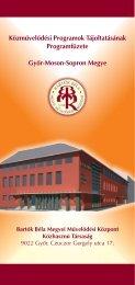 A Közművelődési Programok Tájoltatásának Programfüzete 2005 ...