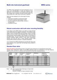 MRIG Series Spur Gearboxes - Mclennan Servo Supplies Ltd.