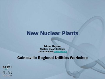 New Nuclear Plants - Gainesville Regional Utilities