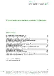 Ebay-Handel unter steuerlichen Gesichtspunkten - Steuerberaten.de