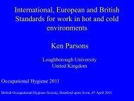 Thermal Standards - BOHS