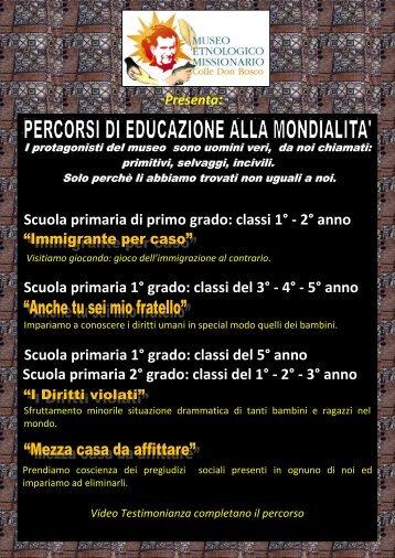 il volantino - Colle Don Bosco