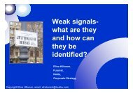 Weak signals- what are they and how can they be identified?
