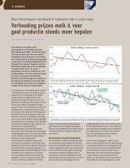 Verhouding prijzen melk & voer gaat productie ... - Melkveebedrijf