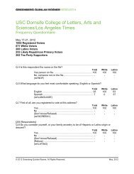 USC Dornsife College of Letters, Arts and Sciences - Greenberg ...