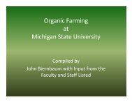 O i F i Organic Farming at Michigan State University