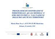 programmi di cooperazione territoriale - Fondi Europei 2007-2013