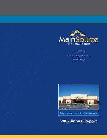 Financial Highlights - MainSource Bank