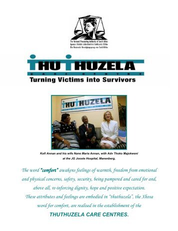 Thuthuzela Care Centres - National Prosecuting Authority