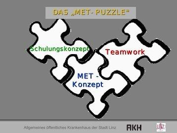 """DAS """"MET- PUZZLE """" Teamwork MET - Konzept"""