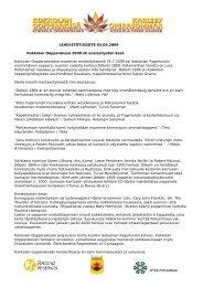 LEHDISTÖTIEDOTE 03.09.2009 Kokkolan ... - Kokkola Opera