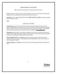 Practice Tax Return # 1 Tax Year 2011 - Drake Support Login ...