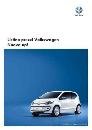 Listino prezzi Volkswagen Nuova up!