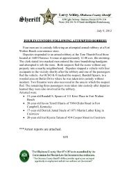 ***Arrest reports are attached. ### - Okaloosa County Sheriff's Office