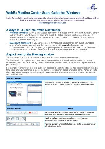 one click webex  for windows