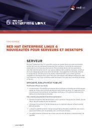 SERVEUR Red Hat enteRpRise Linux 6 nouveautés pouR ...