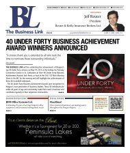 40 under forty business achievement award winners announced