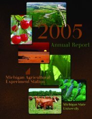 2005 Annual Report - AgBioResearch - Michigan State University