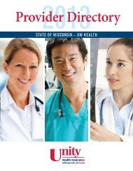 Provider Directory - Unity Health Insurance