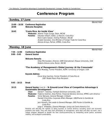 EAMI Program Costa Rica June 2001 - Eastern Academy of ...