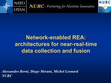Network-enabled REA: architectures for near-real-time data ... - Nato