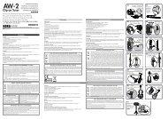 AW-2 Owner's Manual - Korg