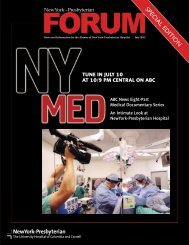 SPEC IAL ED ITIO N - New York Presbyterian Hospital