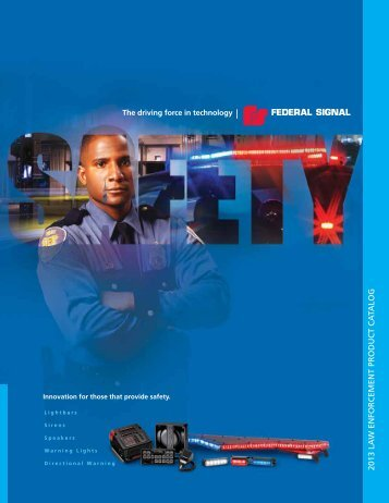 2013 Product Catalog - Federal Signal