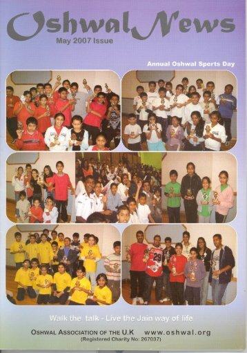 May 07 A4 OSHWAL NEWS - Oshwal Centre