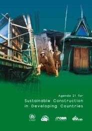 Agenda 21 for Sustainable Construction in Developing Countries - CIB