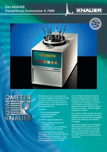 Das KNAUER Dampfdruck-Osmometer K-7000