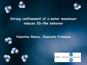 Strong confinement of a water monolayer induces 3D-like behavior