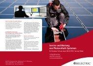 Service und Wartung von PV Systemen - BELECTRIC