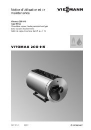 Notice d'utilisation et de maintenance1.9 MB - Viessmann