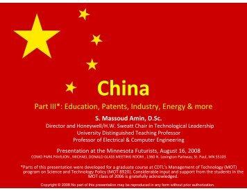 China - Minnesota Futurists
