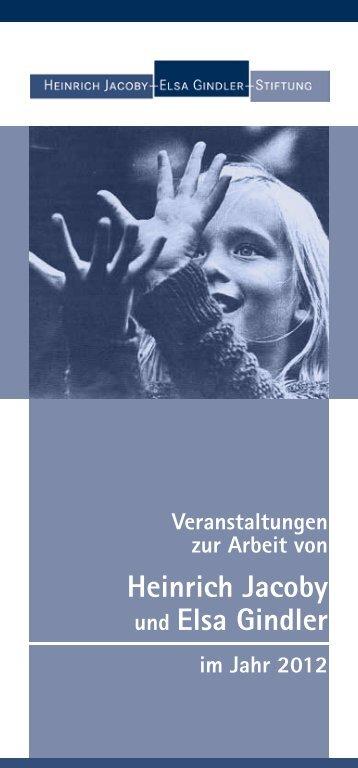 Veranstaltungsplan 2012 - Heinrich Jacoby - Elsa Gindler - Stiftung
