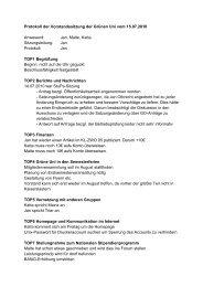 Protokoll der Vorstandssitzung der Grünen Uni vom 15.07.2010 ...